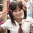 Petite asian school girl alicia jams her tiny pussy - image 2